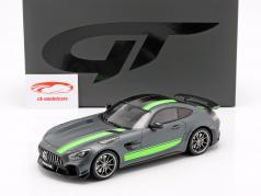 Mercedes-Benz AMG GT-R Pro ano de construção 2019 cinza / verde 1:18 GT-Spirit