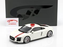 Audi R8 RWS TBC ano de construção 2018 branco / vermelho 1:18 GT-Spirit