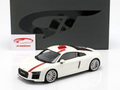 Audi R8 RWS TBC year 2018 white / red 1:18 GT-Spirit