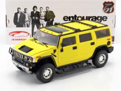 Hummer H2 Ano de 2003 Série de TV Entourage (2004-2011) amarelo 1:18 Greenlight