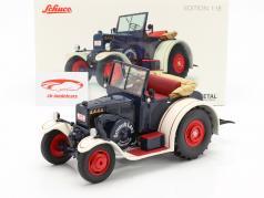 Lanz Eilbulldog tractor blauw / wit 1:18 Schuco