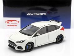 Ford Focus RS Bouwjaar 2016 bevroren wit 1:18 AUTOart
