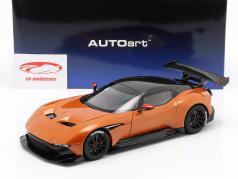 Aston Martin Vulcan ano de construção 2015 Madagáscar laranja 1:18 AUTOart