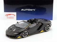 Lamborghini Centenario Roadster année de construction 2016 clear carbon / jaune 1:18 AUTOart
