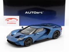 Ford GT ano de construção 2017 liquid azul 1:18 AUTOart