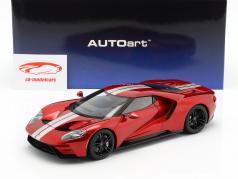 Ford GT año de construcción 2017 liquid rojo / plata 1:18 AUTOart