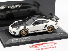 Porsche 911 (991 II) GT3 RS package Weissach année de construction 2018 blanc 1:43 Minichamps
