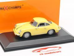 Porsche 356 C Carrera 2 Baujahr 1963 hellgelb 1:43 Minichamps
