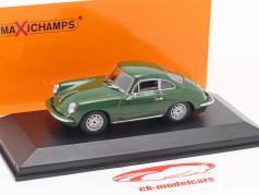 Porsche 356 C Carrera 2 année de construction 1963 vert foncé 1:43 Minichamps