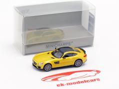 Brabus 600 auf Basis Mercedes-Benz AMG GT S Baujahr 2015 gelb metallic 1:87 Minichamps