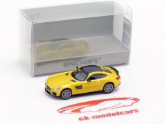 Brabus 600 based on Mercedes-Benz AMG GT S year 2015 yellow metallic 1:87 Minichamps