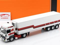 Renault R370 Turboleader Refrigerated Semitrailer year 1986 wess / red 1:43 Ixo