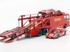 Fiat Bartoletti vrachtwagen 306/2 Ferrari film LeMans 1:18 Norev