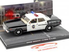 Dodge Monaco Coche de policía James Bond película Panorama para la Muerte 1:43 Ixo
