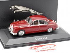 Jaguar MK II ano de construção 1960 escuro vermelho 1:43 Atlas