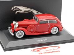 Jaguar SS1 Airline Baujahr 1935 rot 1:43 Atlas