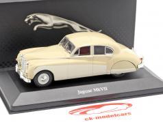 Jaguar MK VII year 1956 ivory 1:43 Atlas