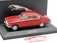 Jaguar MkX year 1962 dark red 1:43 Atlas