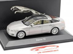 Jaguar XJ (X351) year 2010 silver metallic 1:43 Atlas