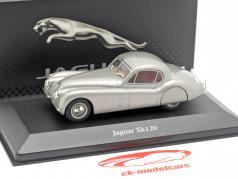 Jaguar XK120 year 1948 silver grey metallic 1:43 Atlas