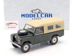 Land Rover Series II 109 año de construcción 1959 verde oscuro / beige 1:18 Model Car Group
