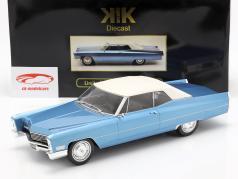 Cadillac DeVille Convertible com softtop 1968 azul claro metálico 1:18 KK-Scale