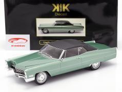 Cadillac DeVille Convertible com softtop 1968 luz verde metálico 1:18 KK-Scale