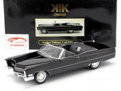 Cadillac DeVille Convertible Baujahr 1968 schwarz 1:18 KK-Scale