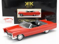 Cadillac DeVille conversível ano de construção 1968 vermelho 1:18 KK-Scale