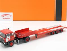 DAF 2800 Low-boy Trailer Mammoet Baujahr 1978 rot 1:43 Ixo