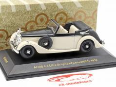 Alvis 4.3 ltr Drophead Convertible Baujahr 1938 weiß / schwarz 1:43 Ixo