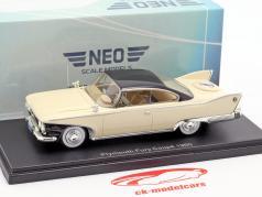 Plymouth Fury Coupe ano de construção 1960 bege claro 1:43 Neo