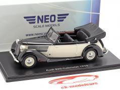 Audi 920 Cabriolet Gläser ano de construção 1939 preto / branco 1:43 Neo