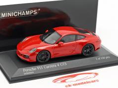 Porsche 911 (991 II) Carrera 4 GTS ano de construção 2017 guardas vermelho 1:43 Minichamps