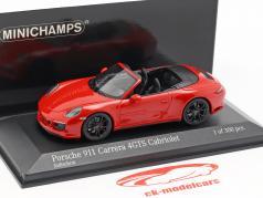 Porsche 911 (991 II) Carrera 4 GTS cabriolé 2017 guardas vermelho 1:43 Minichamps