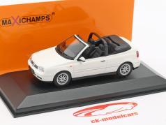 Volkswagen VW Golf IV cabriolé ano de construção 1998 branco 1:43 Minichamps