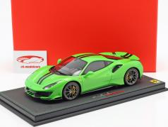Ferrari 488 Pista year 2018 green metallic 1:18 BBR