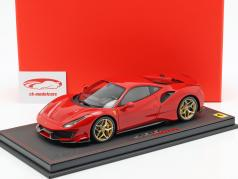 Ferrari 488 Pista Construction year 2018 corsa red 1:18 BBR