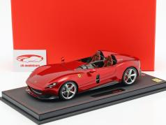 Ferrari Monza SP2 year 2018 portofino red metallic 1:18 BBR