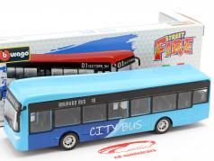 City Bus azul / preto 1:43 Bburago