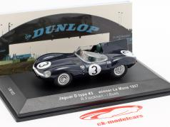 Jaguar D-type #3 winnaar 24h LeMans 1957 Flockhart / Bueb 1:43 Ixo