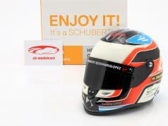 Jose Maria Lopez DS Virgin Racing formula e 2016 helmet 1:2 Schuberth