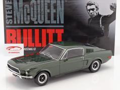 Ford Mustang GT Steve McQueen film Bullitt (1968) donkergroen 1:12 GT-Spirit