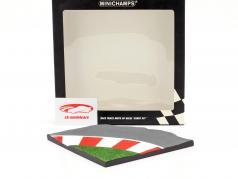 Racetrack Moto GP-motoren 90 graden bocht 1:12 Minichamps