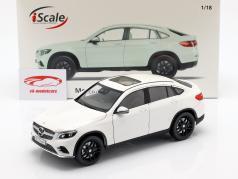 Mercedes-Benz GLC coupe ano de construção 2018 branco 1:18 iScale