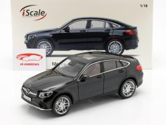 Mercedes-Benz GLC coupe year 2018 black 1:18 iScale