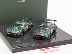 2-Car Set Aston Martin DBR9 #007 & #009 24h LeMans 2006 1:43 Ixo