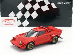 Lancia Stratos ano de construção 1974 vermelho 1:18 Minichamps