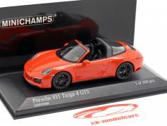 Porsche 911 (991 II) Targa 4 GTS ano de construção 2016 lava laranja 1:43 Minichamps
