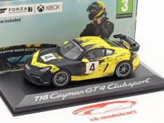Porsche 718 Cayman GT4 Clubsport 2019 #4 jaune / noir 1:43 Minichamps